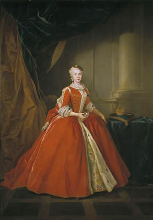 Maria Amalia, Queen of the Two Sicilies, in Polish dress by Louis de Silvestre (1738)