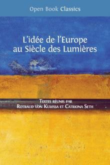 L'idée de l'Europe au Siècle des Lumières