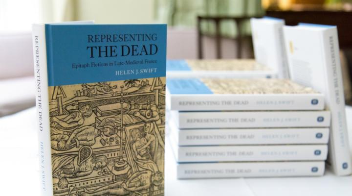 A pile of copies of Representing the Dead