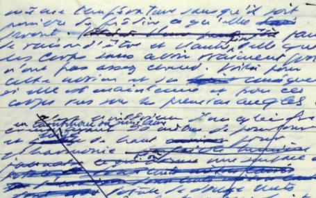 Samuel Beckett's Manuscript for Le Dépepleur