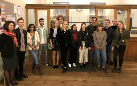 Students and tutors from the Portuguese pre-sessional course 2017