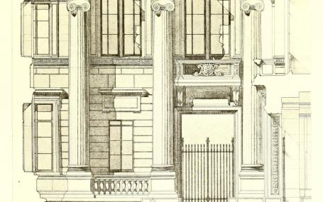 Taylorian Institute, detail of elevation