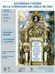 Poster for Autoridad & poder en el Siglo de Oro