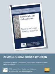 Call for Speakers: Reading of Luther's 'Sendbrief vom Dolmetschen'