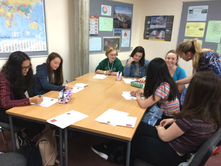 Students from Haygrove School attending an Oxford Language Day
